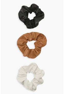 Multi Scrunchies i PU (3-pack)