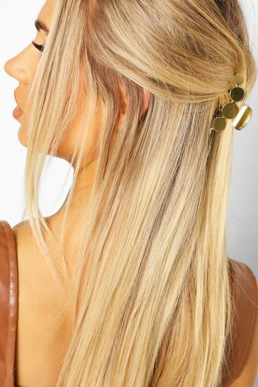 Gold metallic Metal Disk Hair Clip