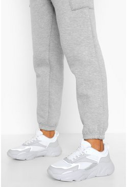 Grey Reflective Chunky Sports Trainers