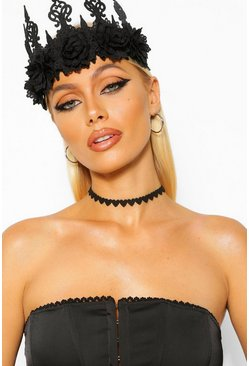 Halloween Heart Velvet Choker, Black Чёрный