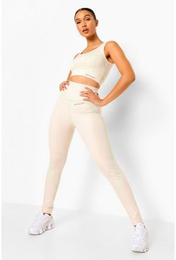 Nude Reflective Stitch Active Leggings