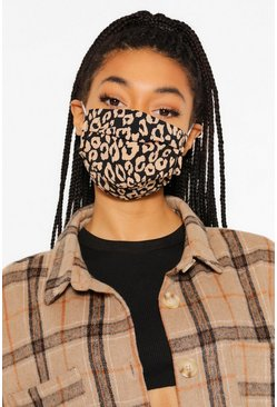 Blue Leopard Print Adjustable Fashion Face Mask
