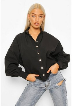 Black Gold Popper Batwing Blouse