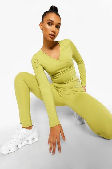 Olive green High Waist Active Leggings