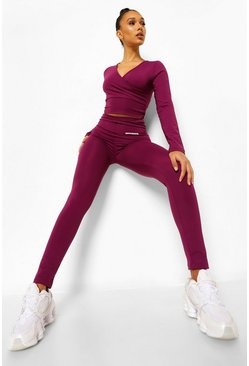 Plum purple High Waist Active Leggings