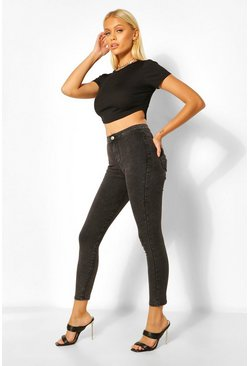 Washed black Basic Denim Jegging