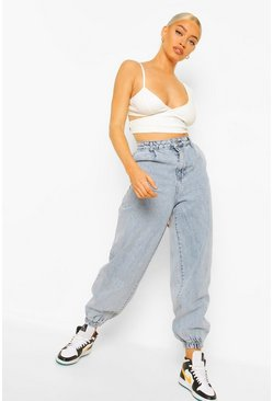 Acid wash light blue Acid Wash Cuffed Extreme Jogger Jean