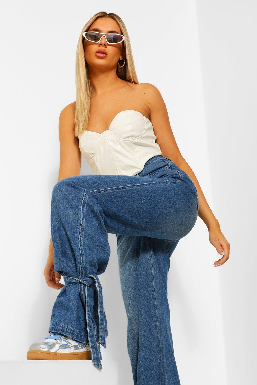 High Waisted Jeans Tie Ankle High Waist Jean