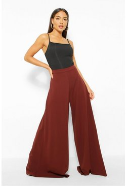 Chocolate brown Super Wide Leg Trousers