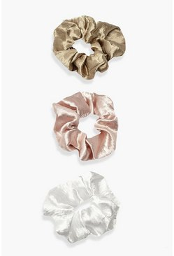 Multi Scrunchies i satin (3-pack)