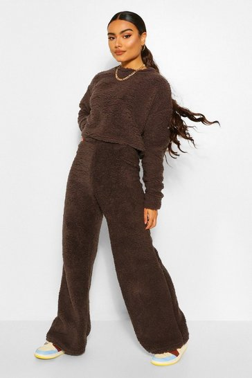 Grey Borg Jumper and Wide Leg Trouser Co-ord Set