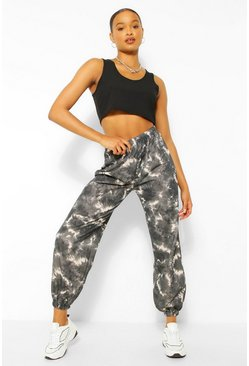 Zwart black Loopback Tie Dye Joggingbroek