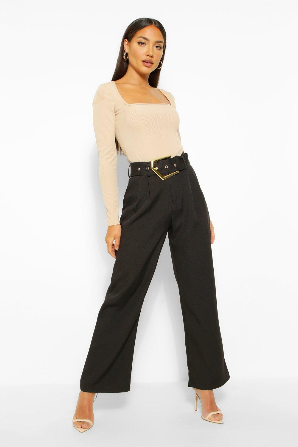 Trousers Statement Buckle Tailored Trouser