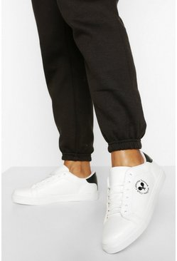 White Wellness Club Flat Trainers