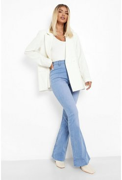 Cobalt blue Stretch Denim Flare Jeans
