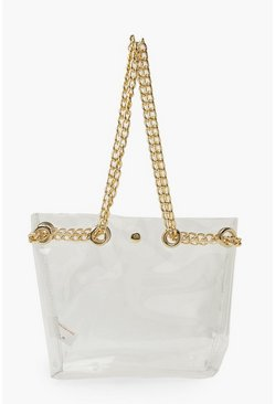 Clear Bag With Chain Strap