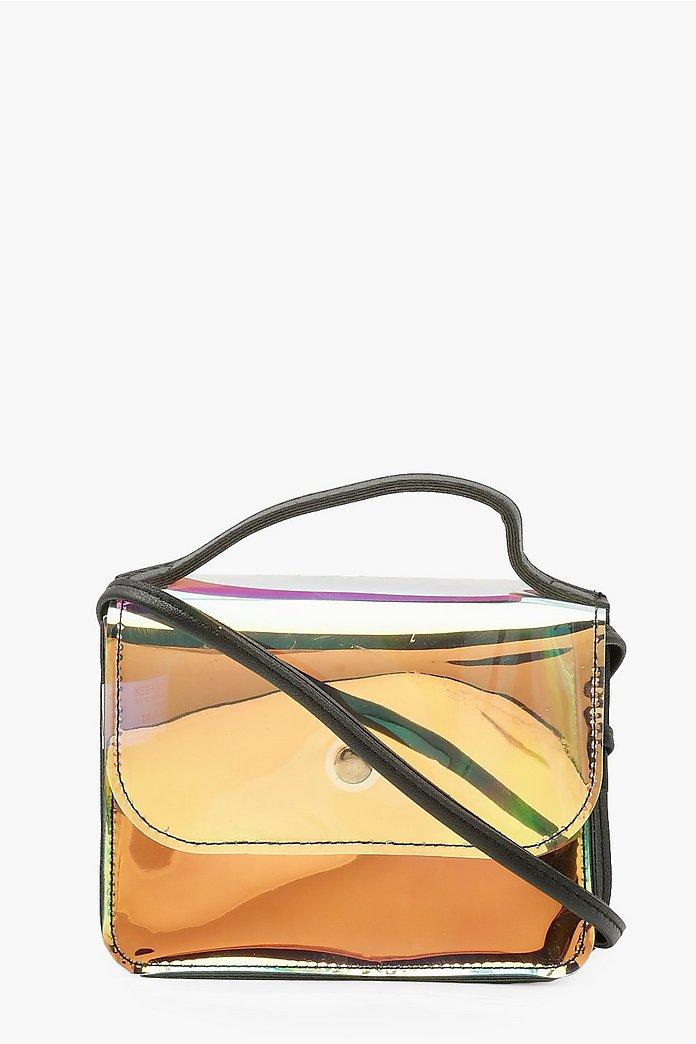 Holographic Crossbody Bag Boohoo