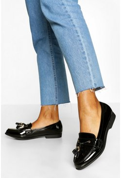 Tassel Detail Loafers, Black nero