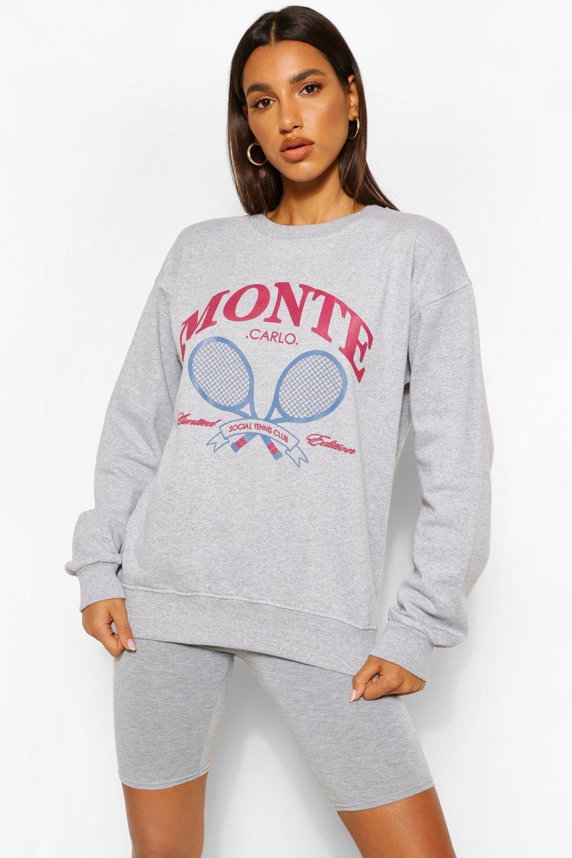 Monte Carlo Tennis Sweatshirt Boohoo Uk