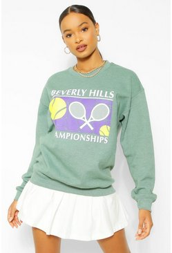 Light khaki khaki Beverley Hills Tennis Sweater