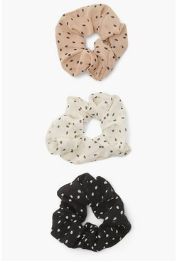 Multi 3 Pack Polka Dot Scrunchies