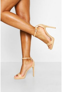 Basic Stiletto Heel Two Parts, Nude hautfarben