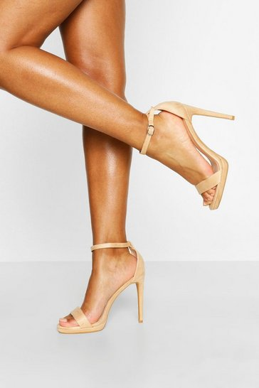 Nude Basic Stiletto Heel Two Parts