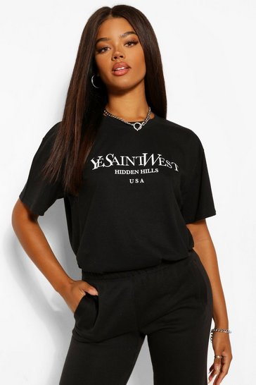 Black Ye Saint West Oversized T-Shirt