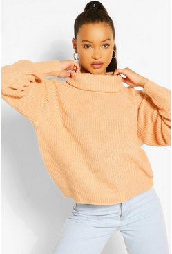 Camel beige Turtleneck Sweater