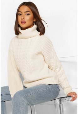 Cream white Cable Knit Jumper