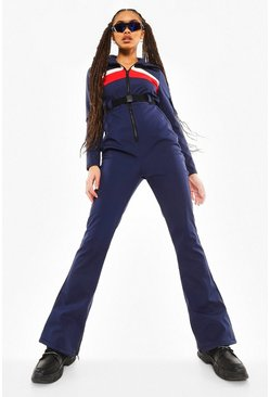 Navy Luxe Colourblock Snowsuit