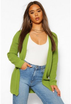 Apple green green Edge To Edge Cardigan