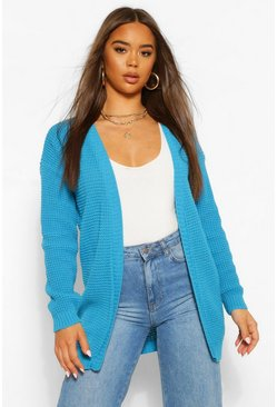 Turquoise blue Edge To Edge Cardigan