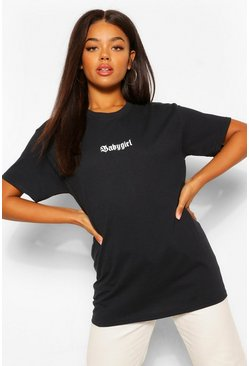 Black Baby Girl Oversized T-Shirt