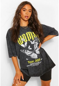 Lime green Woman Butterfly Oversized T-Shirt