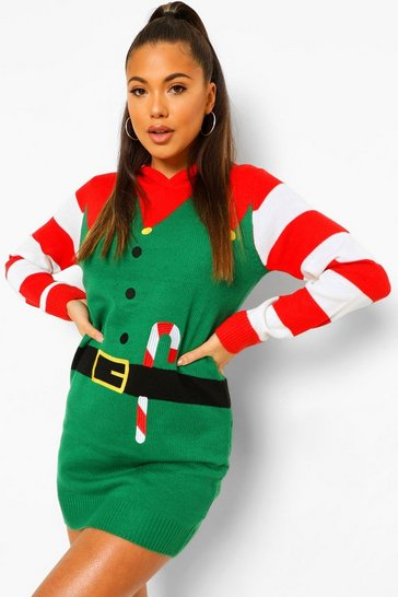Green Festive Elf Christmas Jumper