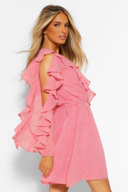 Mini Dresses Spot Extreme Ruffle Mini Dress