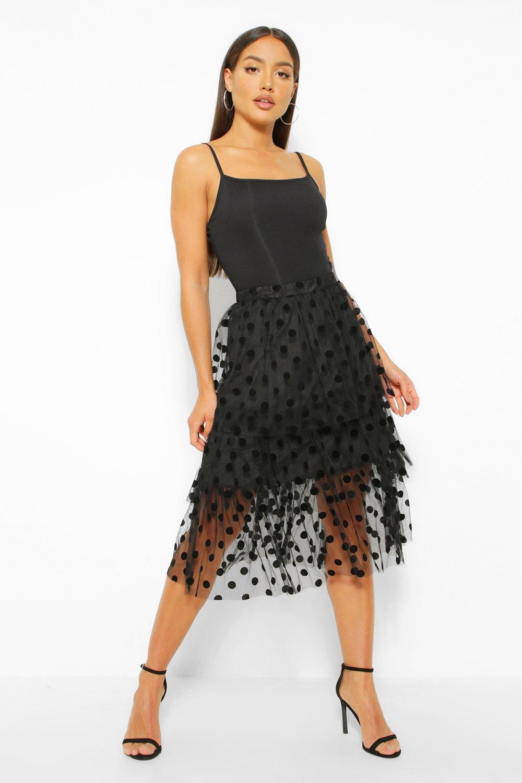 Skirts Spot Tulle Midi Skirt