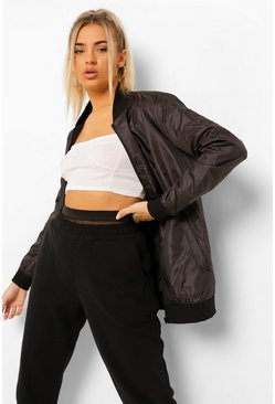 Black Fit Woman Waterproof Bomber