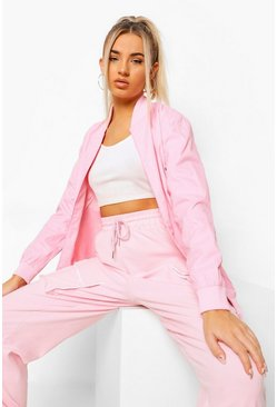 Pink Fit Woman Waterproof Bomber