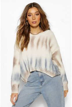 Blue Stripe Tie Dye Jumper