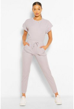 Grey Oversized Bandage T-Shirt and Trouser Co-ord