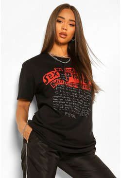 Black Sex Pistols Licensed T-Shirt
