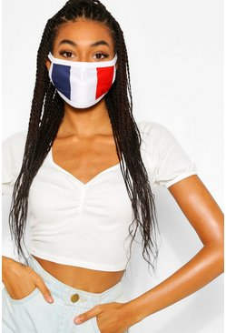Multi France Flag Fashion Face Mask