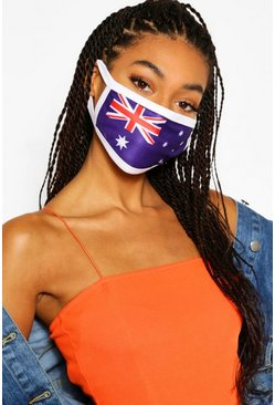 Multi Australia Flag Fashion Face Mask