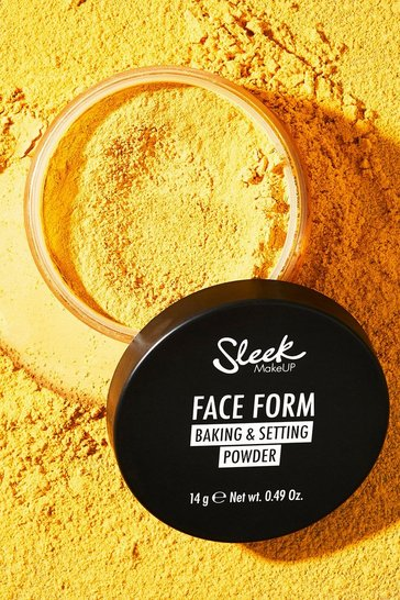 Beige Sleek Face Form Baking Setting Banana Powder