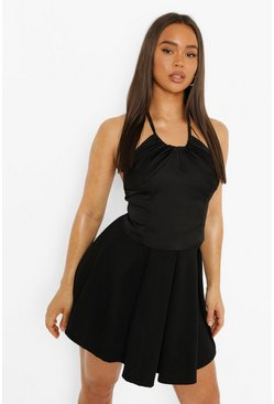 Black Pleated Tennis Skirt