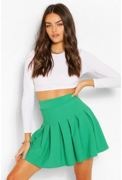 Emerald green Pleated Tennis Skirt