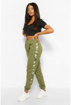 Khaki Camo Colour Block Jogger