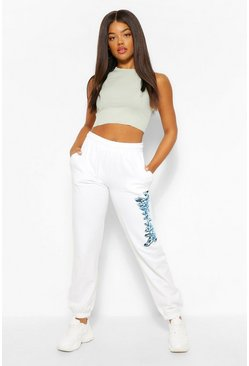 Wit white Babygirl Print Joggingbroek